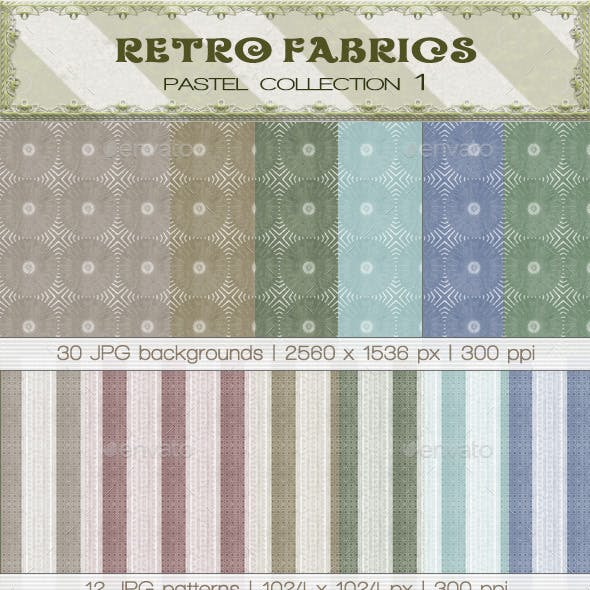 Retro Fabric Pastel Collection