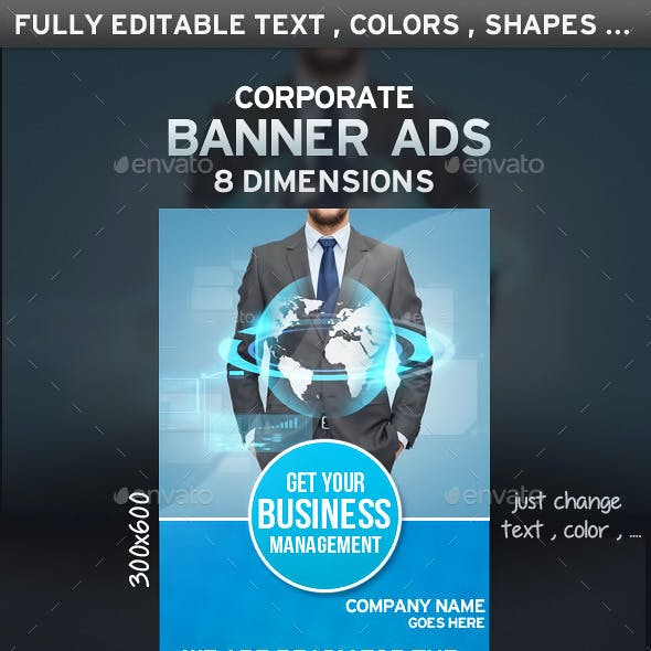 Clean Corporate Banner Ads