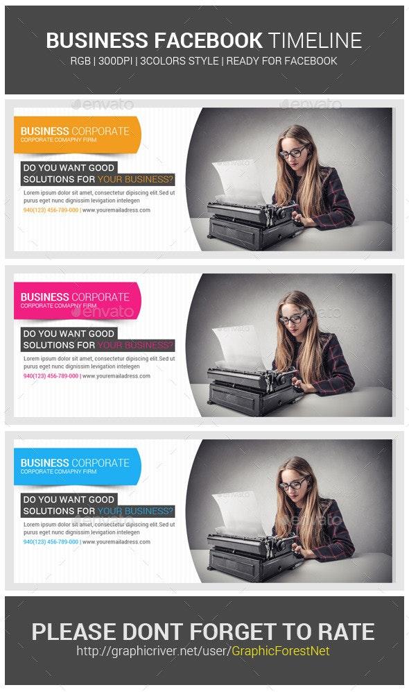 Corporate Business Facebook Timeline Psd Cover - Social Media Web Elements