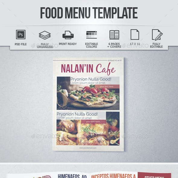 Food Menu Template (8 Pages)
