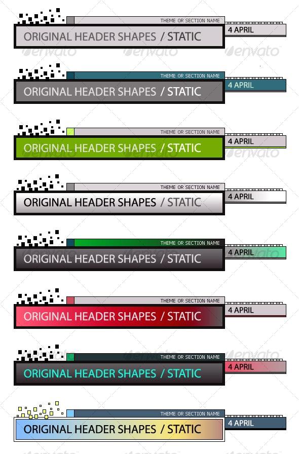 Original Header Shape 98 - Decorative Vectors