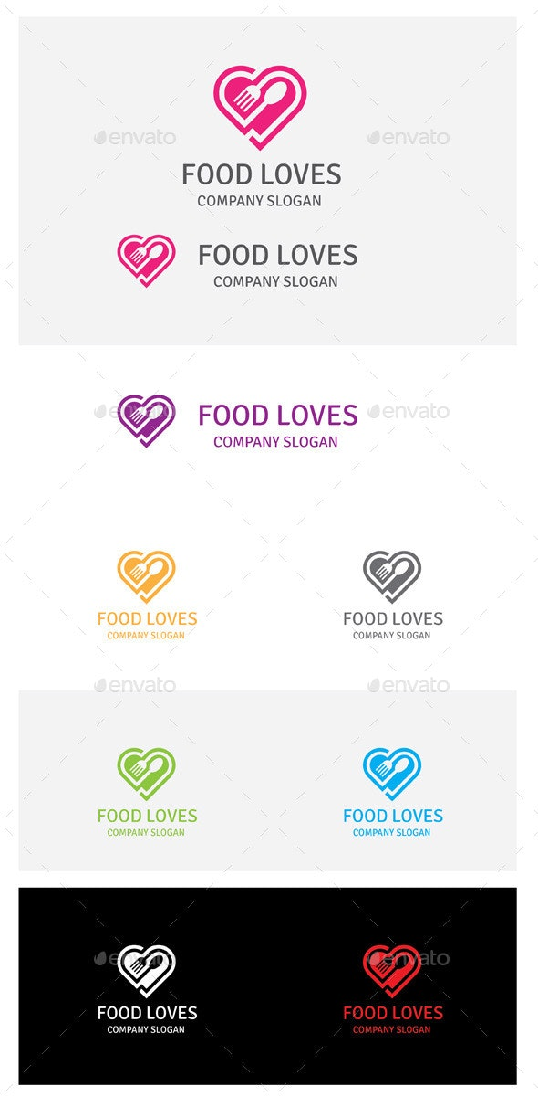 Food Loves - Food Logo Templates