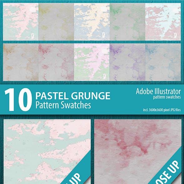 10 Pastel Grunge Texture Pattern Swatches