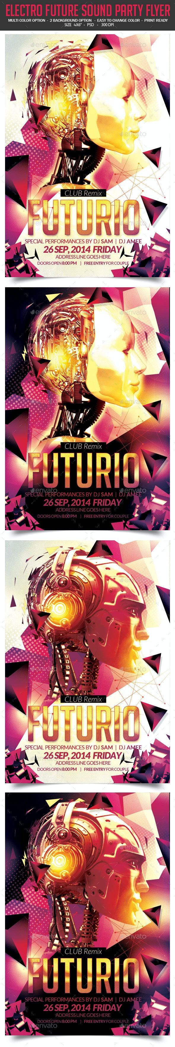 Electro Future Sound Party Flyer - Clubs & Parties Events