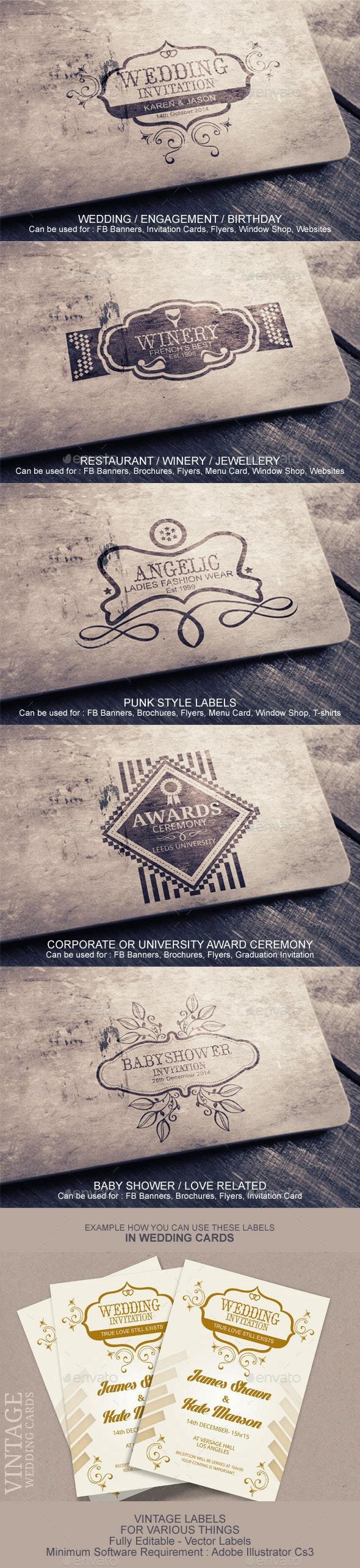 Vintage Labels And Badges - Badges & Stickers Web Elements