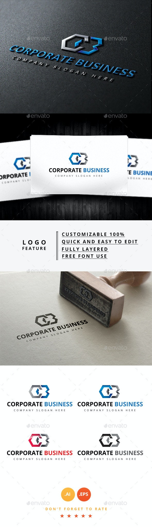 Corporate Business - Objects Logo Templates