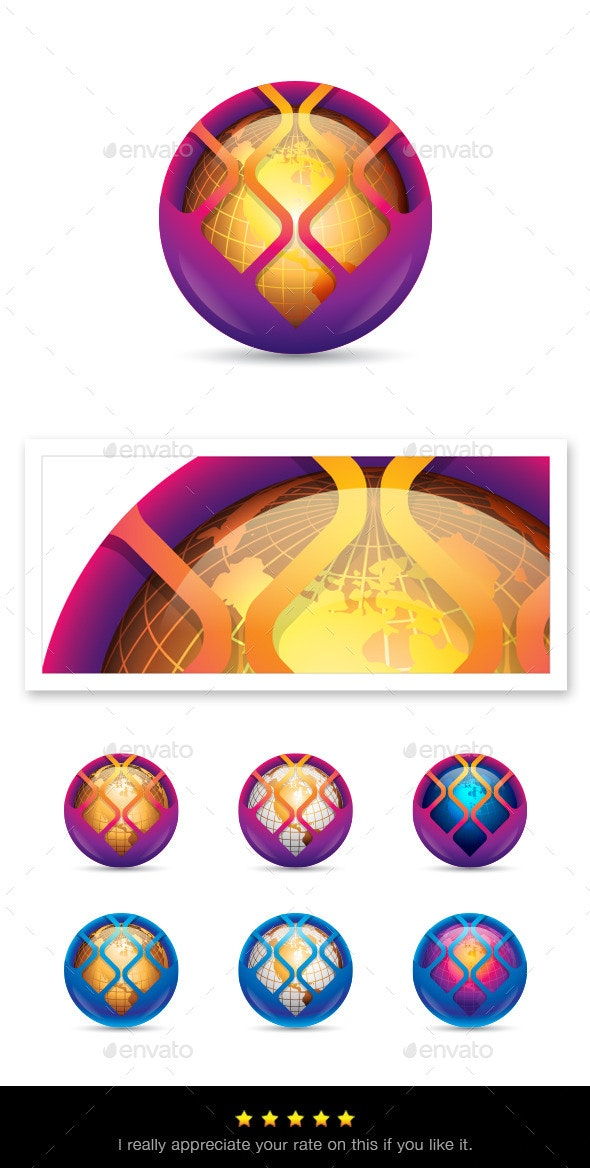 Globe Element - Vectors - Decorative Symbols Decorative
