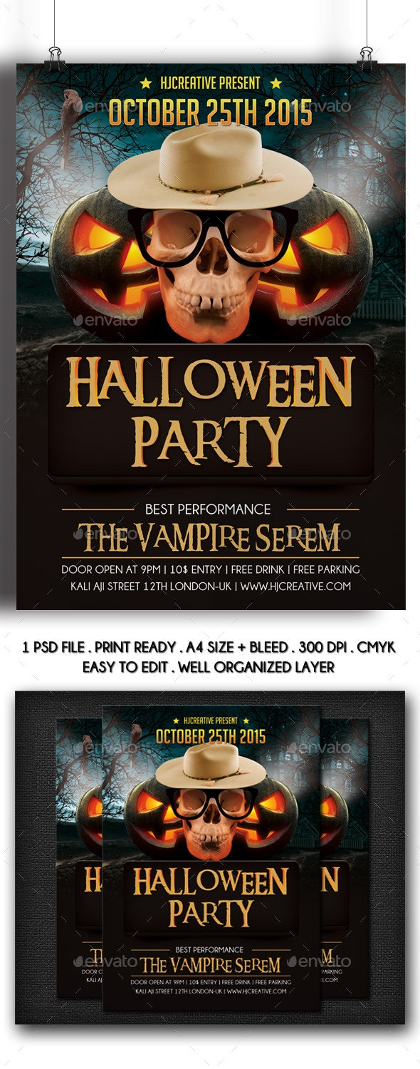 Halloween Poster Flyer Template Vol. 2 - Clubs & Parties Events