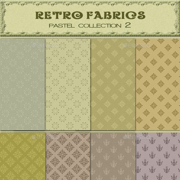Retro Fabric Pastel Collection 2