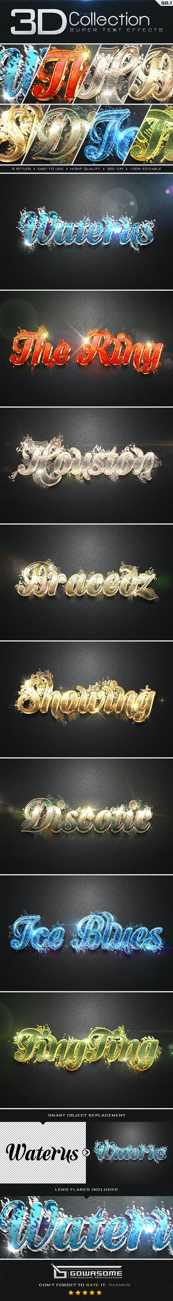 Super 3D Collection Text Effects GO.1 - Text Effects Styles