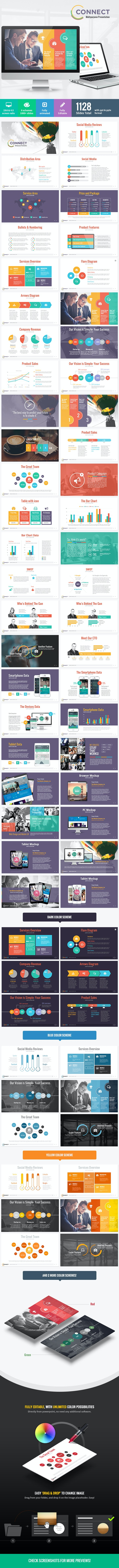 Connect - Modern Powerpoint Template - PowerPoint Templates Presentation Templates