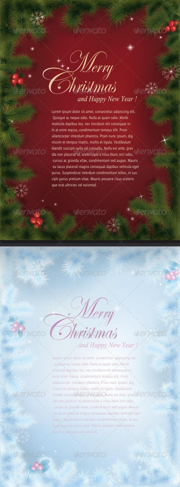 Vector Christmas cards - Christmas Seasons/Holidays