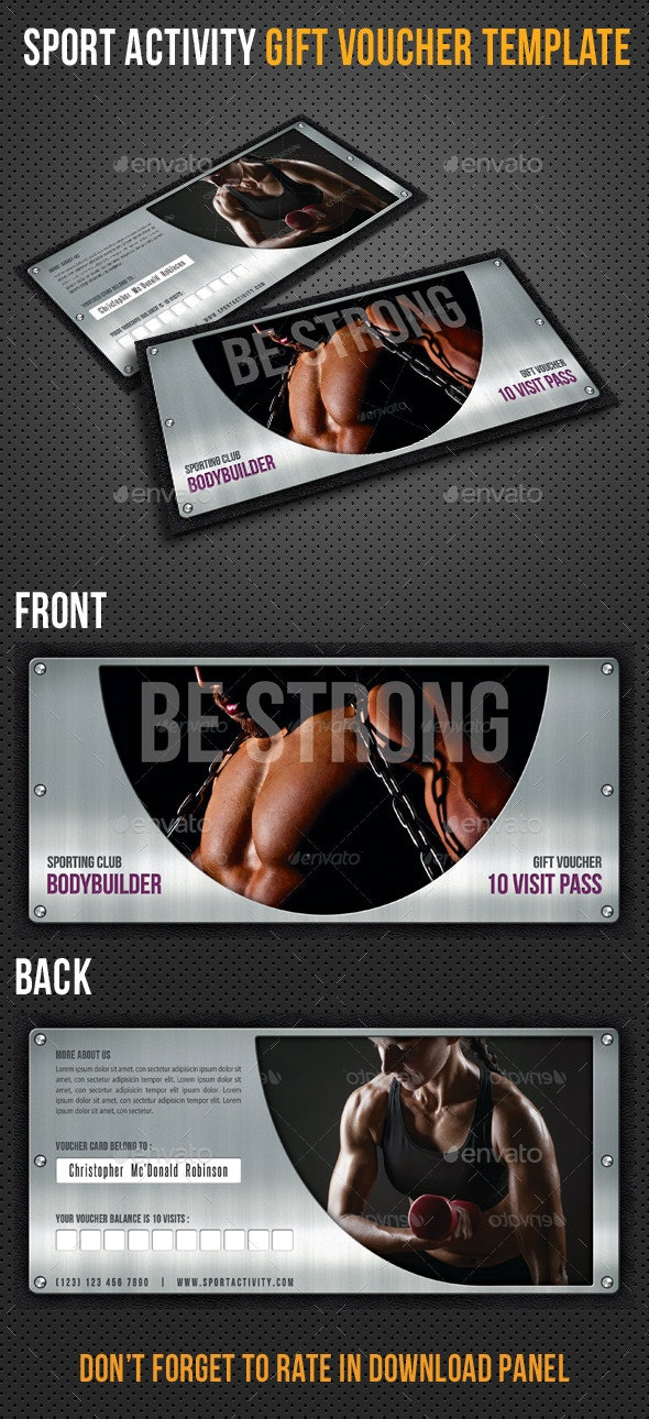 Sport Activity Gift Voucher V33 - Cards & Invites Print Templates