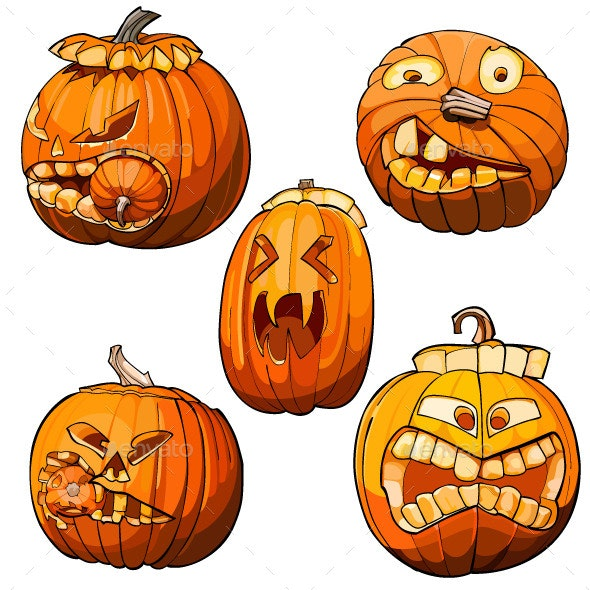 Toothy Pumpkins for Halloween - Organic Objects Objects
