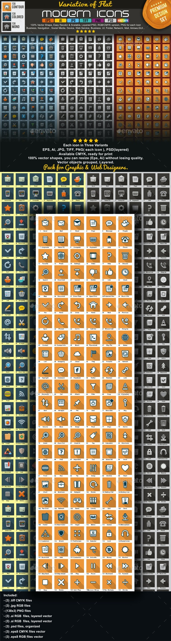 Modern Flat Icons Pack - Miscellaneous Icons