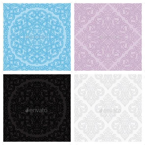 Set of vintage seamless patterns - Patterns Decorative