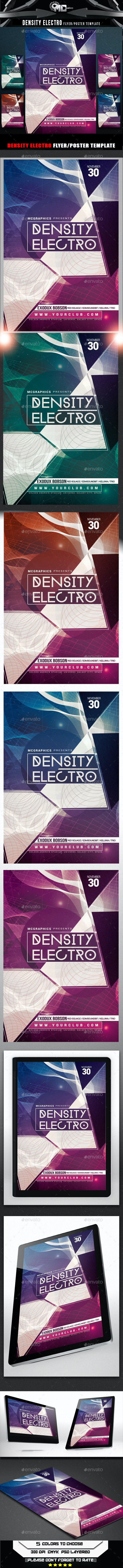 Density Electro Flyer Template - Clubs & Parties Events