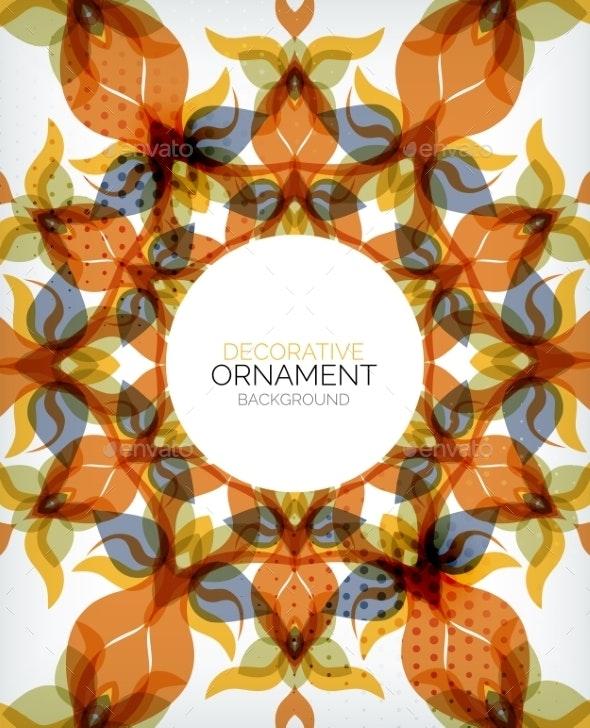 Decorative Retro Ornaments Background - Abstract Conceptual