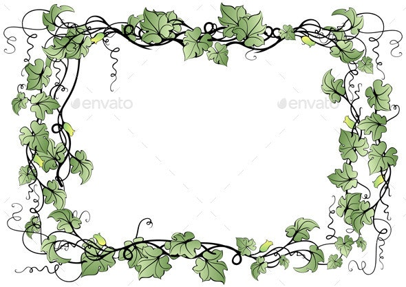 Abstract Floral Frame - Borders Decorative