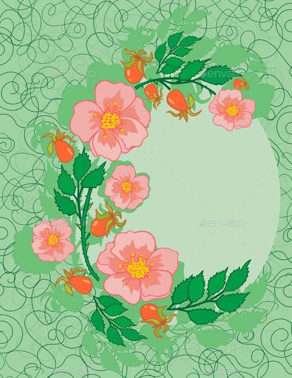 Abstract Roses Frame - Flowers & Plants Nature