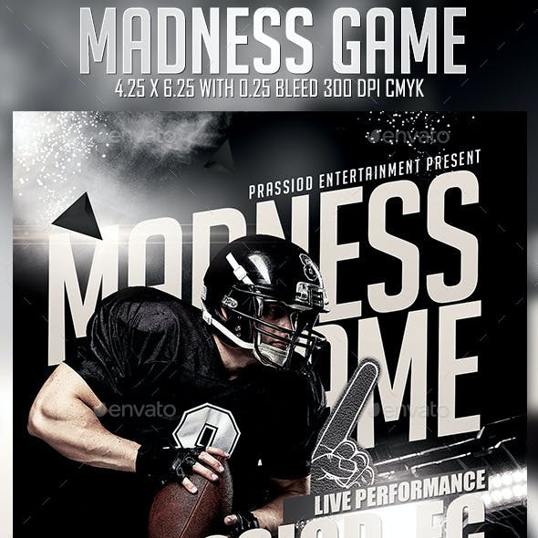 Madness Game Flyer Template
