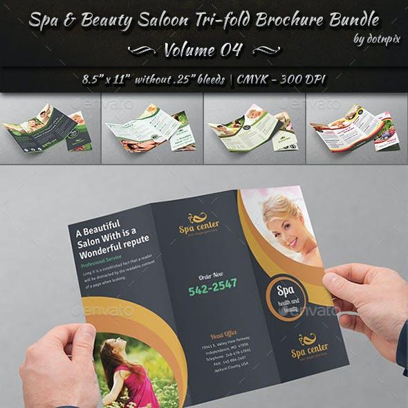 Spa & Beauty Saloon Tri-Fold Brochure Bundle | v4
