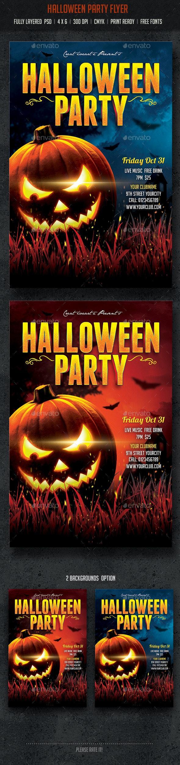 Halloween Party Flyer - Flyers Print Templates