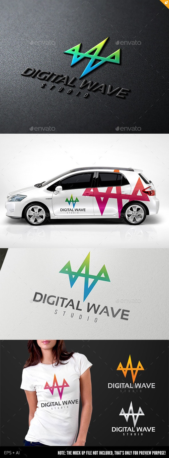 Digital Wave II - Objects Logo Templates