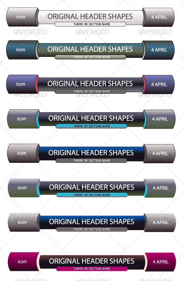 Original Header Shape 92 - Decorative Vectors