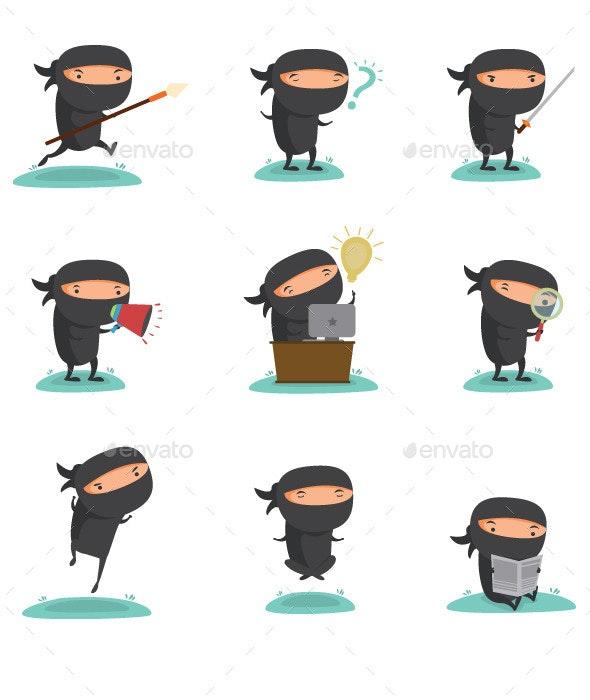 Ninja Mascot Set 1 - Concepts Business