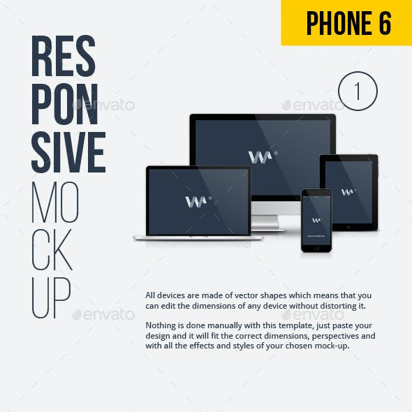 Responsive Screen Devices - Web Mockups