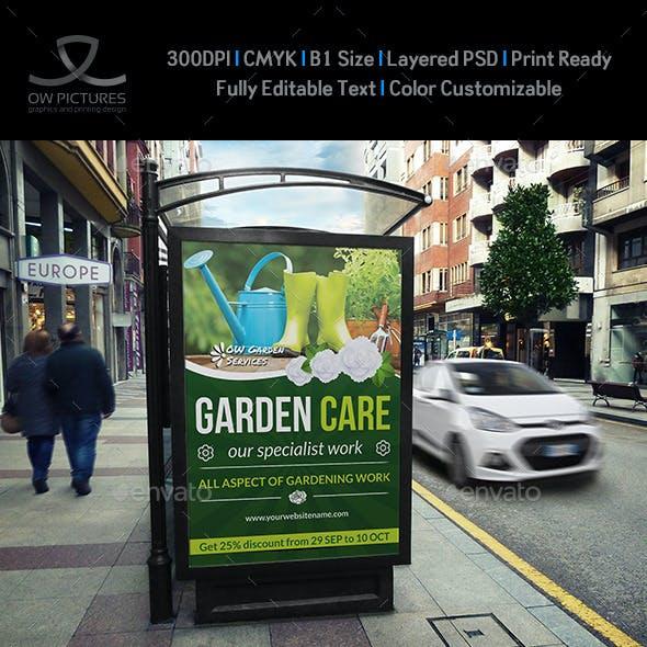 Garden Poster Template