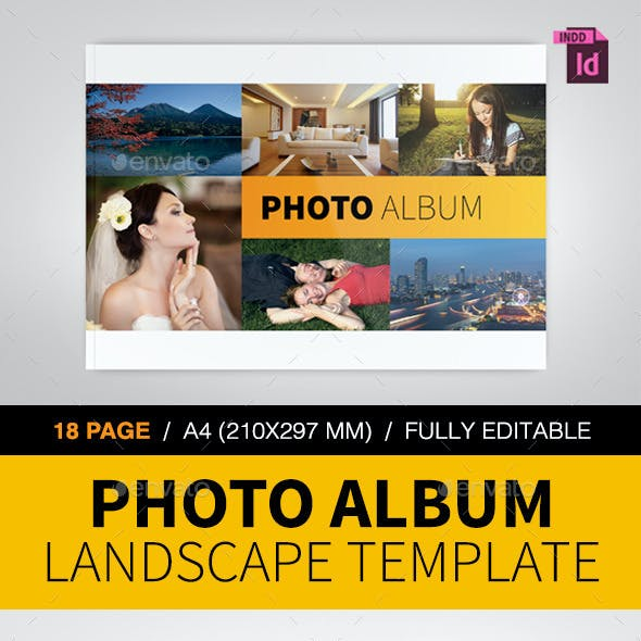 Photo Album Landscape Template