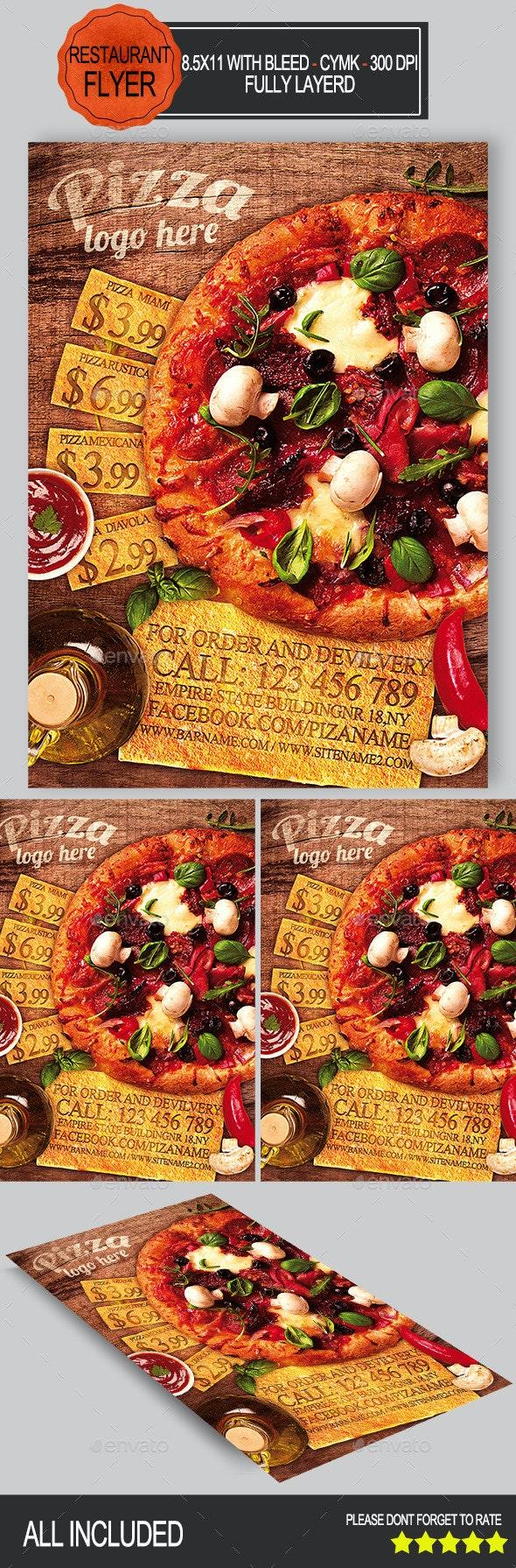 Pizza Restaurant Flyer - Restaurant Flyers