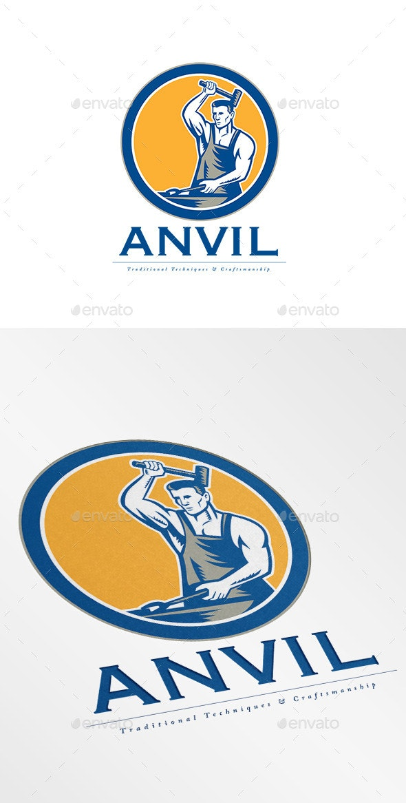 Anvil Traditional Techniques Logo - Humans Logo Templates