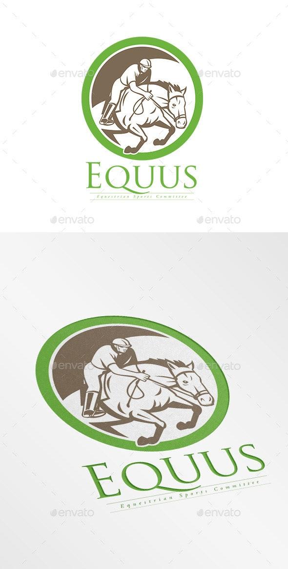 Equus Equestrian Sports Logo - Humans Logo Templates