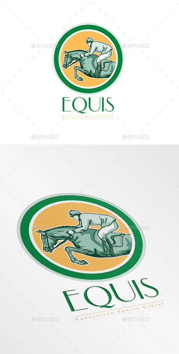 Equis Equestrian Sports Center Logo - Humans Logo Templates