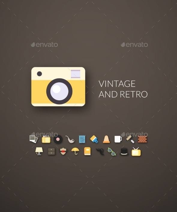 Flat Design Modern Vintage and Retro Icons - Web Technology