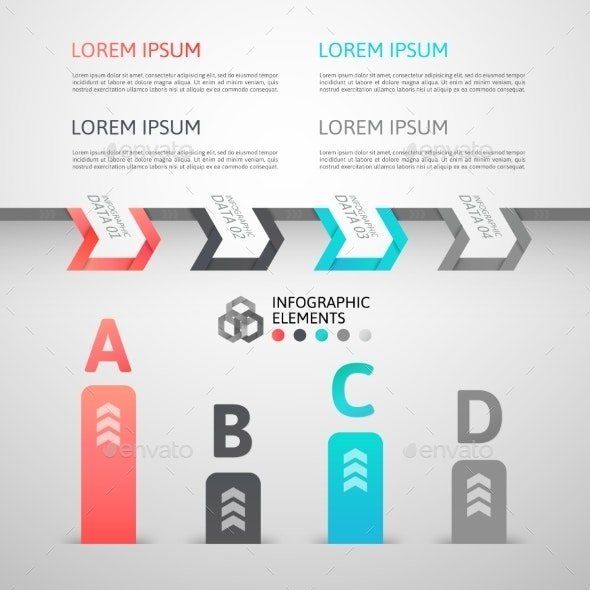 Modern Business Step Origami Style Options Banner - Web Technology