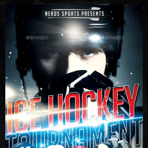 Ice Hockey Sport Flyer