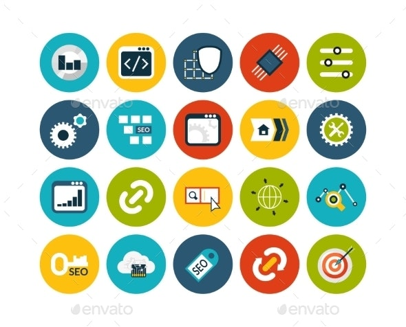 Flat Icons Set 22 - Objects Icons