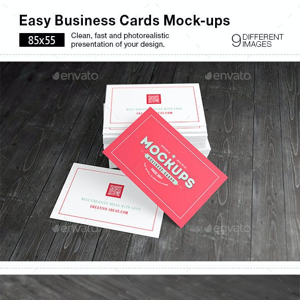 [85x55] Business Cards Mock-ups