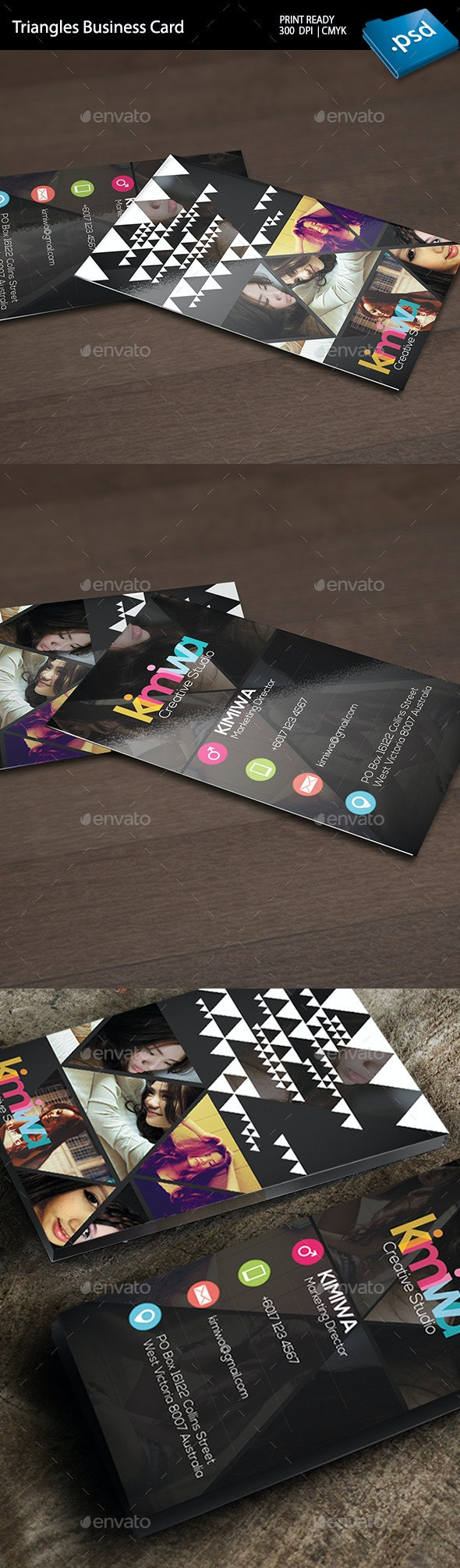 Triangles Business Card  - Creative Business Cards