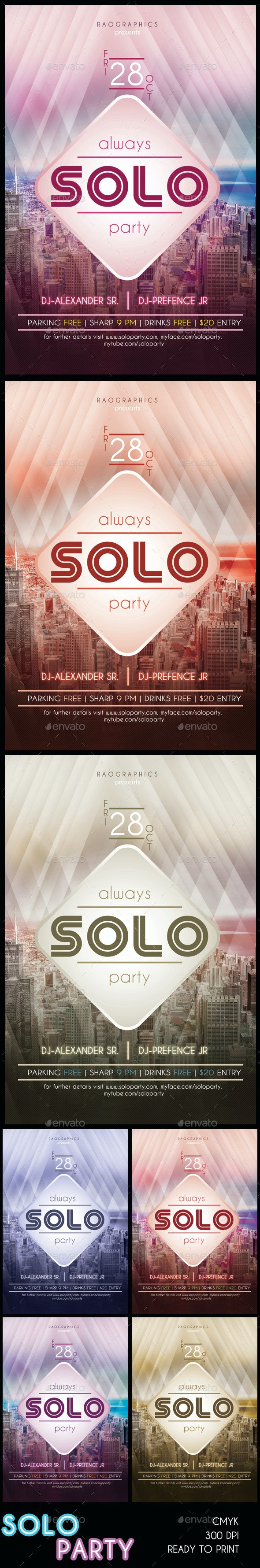 Solo City Party Flyer - Miscellaneous Events