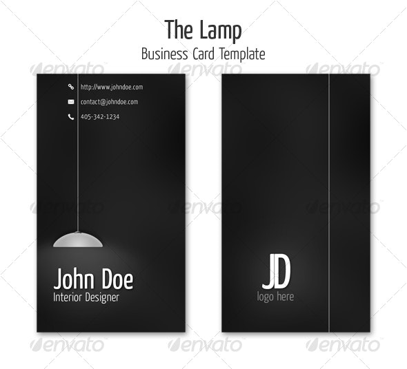 The Lamp Business Card Template - Creative Business Cards
