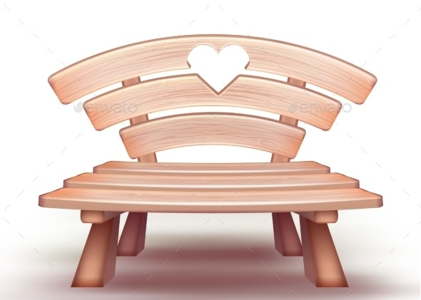 Vector Wooden Bench - Man-made Objects Objects