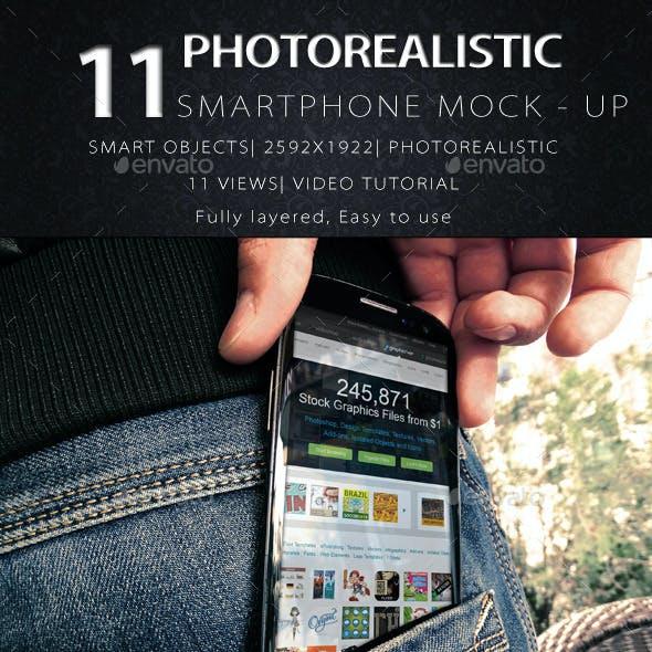 11 Photorealistic SmartPhone Mock Up V2