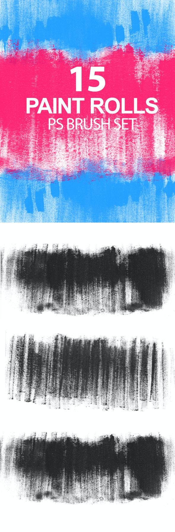 Paint Rolls Photoshop Brush Set  - Grunge Brushes