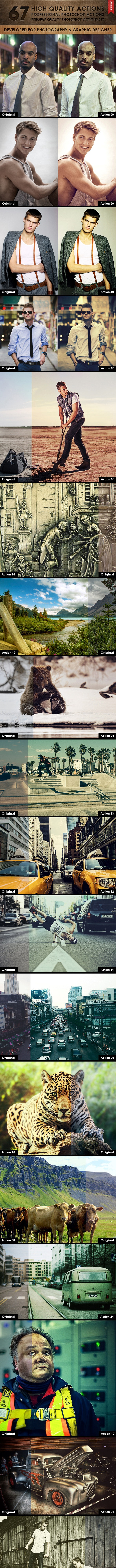 67 High Quality Actions - Photo Effects Actions