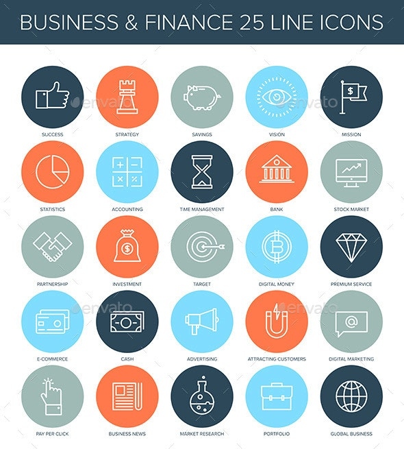Business Icons. - Business Icons